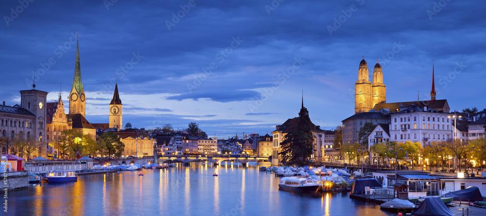 Fototapety, obrazy: Zurich.
