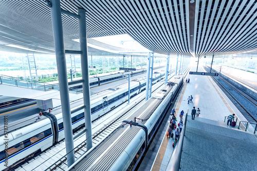 Foto auf AluDibond Bahnhof railway station