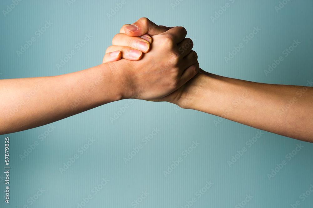 Fototapeta 二人の握手
