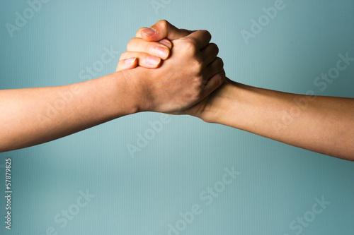 Photo 二人の握手