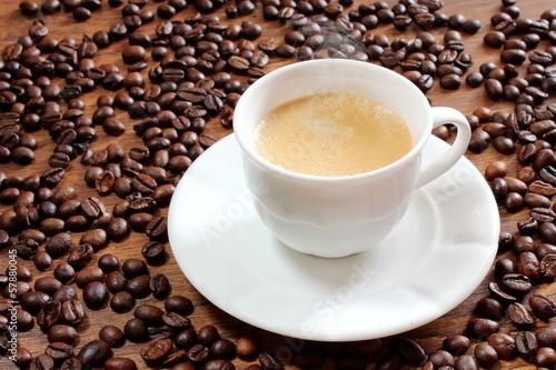 Deurstickers koffiebar Tazza di caffè fumante