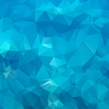 Abstract Blue Background Polygon. Geometric Backdrop.