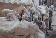 Terracotta Warriors In Xian, C...