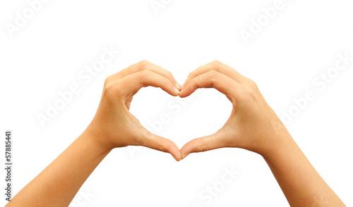 Obraz na plátne Heart hands symbol
