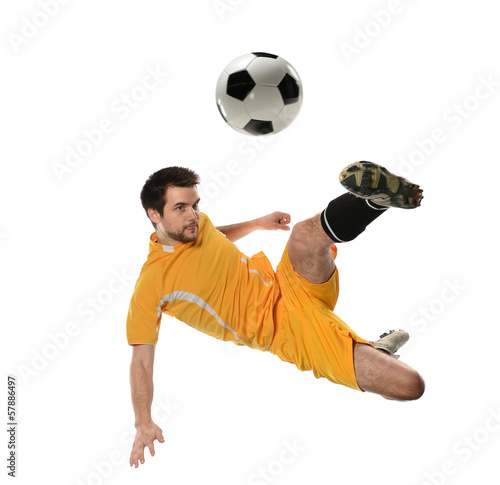 Photo  Soccer Player in Action