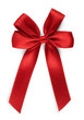 canvas print picture red bow - isolated