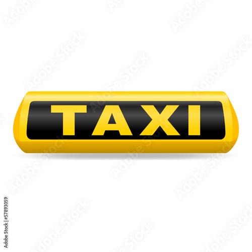 Billede på lærred leuchtschild taxi I