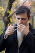 Anti smoking concept - man