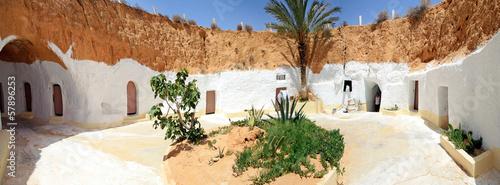 Ingelijste posters Tunesië Maison troglodyte à Matmata