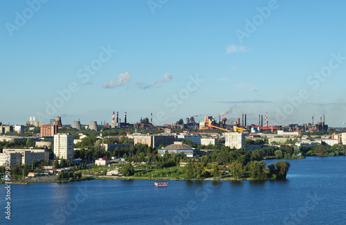 In de dag Donkerblauw The city of Nizhny Tagil and metal works