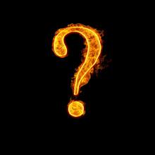 Fire Alphabet Question Mark