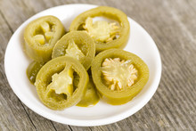 Jalapenos - Bowl Of Pickled Sliced Green Jalapeno Peppers