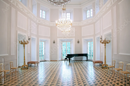 Sights of Warsaw. Luxury ballroom. Canvas Print