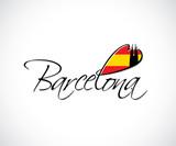 Barcelona lettering