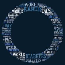 World Diabetes Day Word Collag...