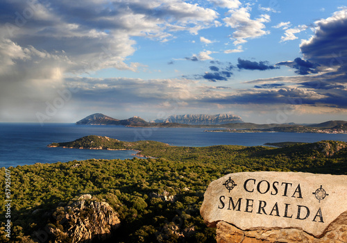 Photo  Sardinia island with azure coast in Italy