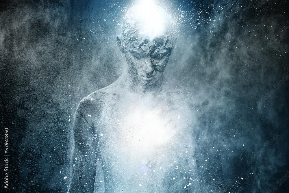 Fototapety, obrazy: Man with conceptual spiritual body art