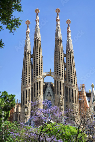 Photo  Sagrada Familia. Barcelona, Spain.