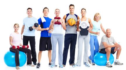 Fototapeta samoprzylepna Group of fitness people.
