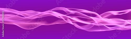 Keuken foto achterwand Fractal waves Gentle violet ribbon