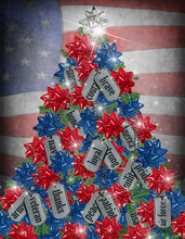 Military Christmas Tree With D...