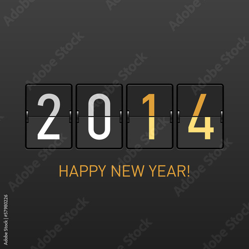 Poster  Happy New Year 2014 greetings