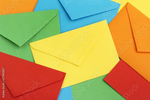 colorful correspondence envelopes Wallpaper Mural