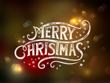 Christmas Typography, Handwrit...