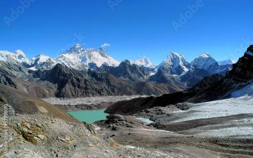 Photo Stands Nepal Everest Panorama vom Renjo Pass