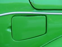 Tankdeckel Eines Grünen Deutschen Kleinwagen Klassiker Der Siebziger Jahre In Bodrum Am Ägäischen Meer In Der Türkei