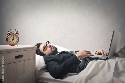 Fotografie, Obraz lazy businessman