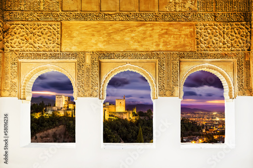 Photo The Alhambra from the windows, Granada (Andalusia), Spain.