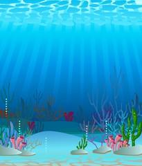 Fototapeta na wymiar deep sea background