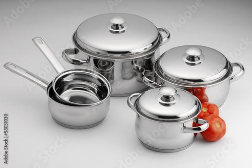 Fotografia  stainless steel kitchenware