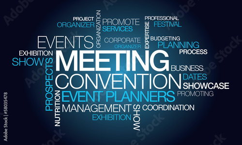 Events meeting convention event planner word tag cloud #58035478