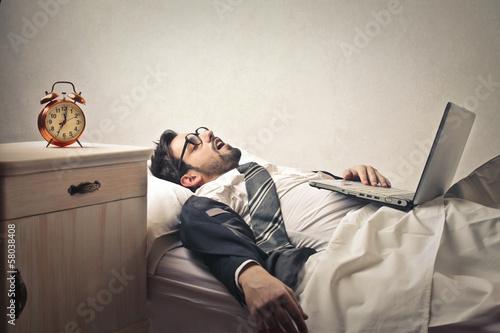 Obraz tired worker - fototapety do salonu