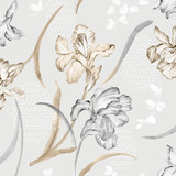 Vivid repeating floral - 58041858