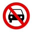 panneau interdiction voiture