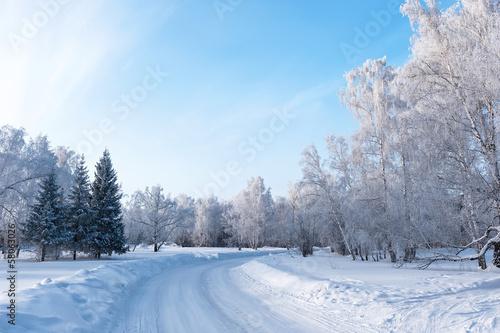 Spoed Foto op Canvas Landschap Winter Landscape