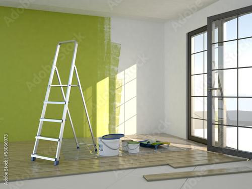Fotografie, Obraz  Repair in the room