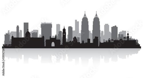 Fototapeta premium Sylwetka panoramę miasta Mumbai Indie