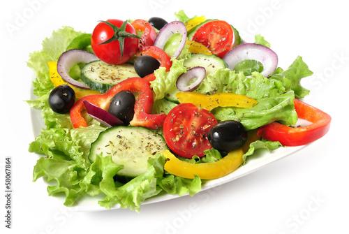 Fotografía  Plato de ensalada