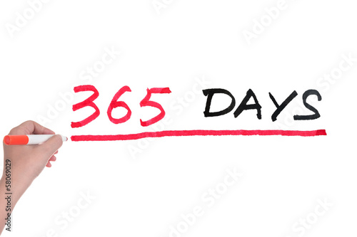 365 days Fototapet