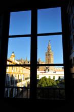 Giralda Tower Through The Window, Seville, Spain