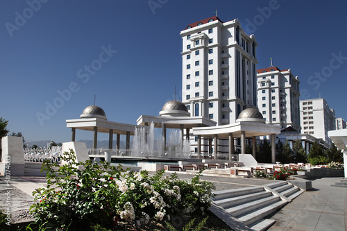 View on the  new modern apartamentes. Ashkhabad. Turkmenistan. Wallpaper Mural