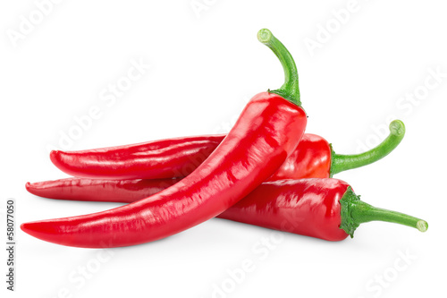 Spoed Foto op Canvas Hot chili peppers Red hot chili pepper