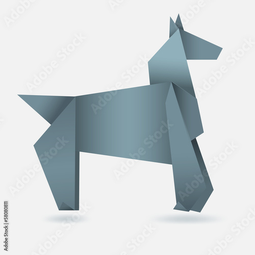 Poster Geometric animals Abstract horse, paper origami