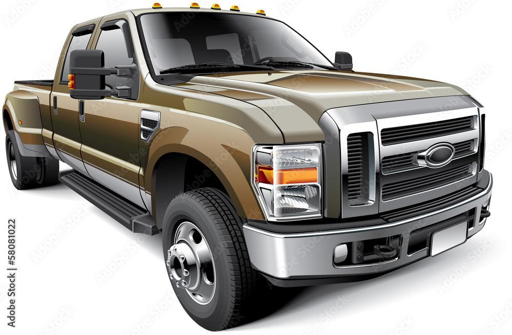 Fototapety, obrazy: American full-size pickup truck