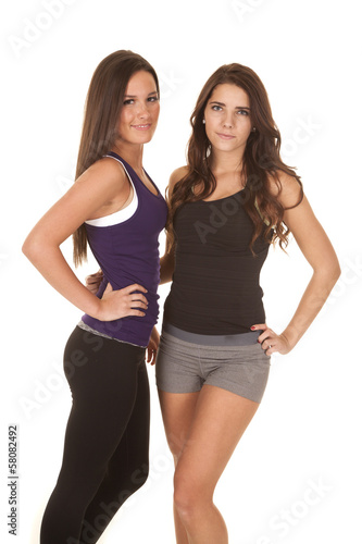 Fotografija  Two women fitness face standing