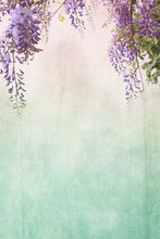 Grungy Background With Floral ...